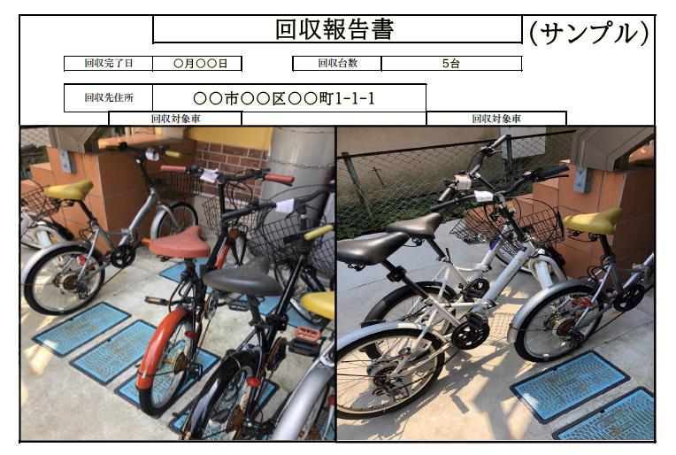放置自転車回収報告書